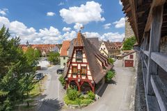 De smeden huisvesten, Rothenburg ob der Tauber, Beieren, Duitsland stock foto's