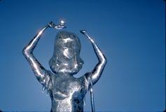 De smeltende Koningin van het Ijs stock afbeelding