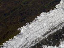 De smeltingen van de ijsrand in de lente Royalty-vrije Stock Afbeeldingen