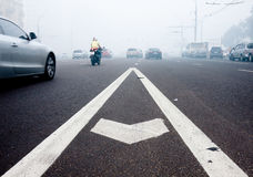 De smogstad van Moskou Royalty-vrije Stock Foto