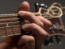 De snaar van de gitaar Stock Foto