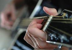 De Snaar van de gitaar Stock Fotografie