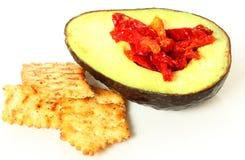 De Snack van de avocado en van de Tomaat stock afbeelding