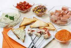 De snack van de fondue Stock Afbeelding