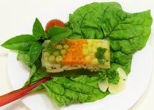 De snack van de gelei met groenten en gevogelte Stock Foto's