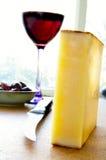 De snack van de kaas stock foto's