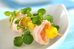 De Snack van de Witte waterkers van de Avocado van de Mango van garnalen royalty-vrije stock foto
