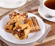 De Snack van het Baklavagebakje Royalty-vrije Stock Fotografie
