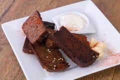 De snack van het Garlikbrood royalty-vrije stock foto