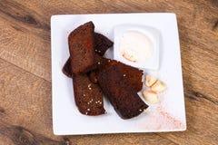 De snack van het Garlikbrood stock afbeeldingen