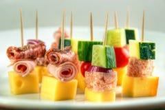 De snacks van de cocktailstok Stock Afbeelding
