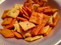De snacks van de kaascracker royalty-vrije stock foto