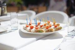 De snacks van vissen openlucht Royalty-vrije Stock Foto's