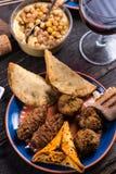 De snackselectie van de Maroccanstijl, tapas Royalty-vrije Stock Foto's