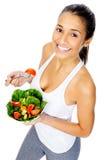 De snackvrouw van de salade royalty-vrije stock foto