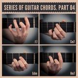 De Snaren van de gitaar Stock Foto