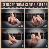 De Snaren van de gitaar Stock Afbeeldingen