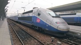 De SNCF-sneltrein royalty-vrije stock afbeeldingen