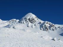De sneeuw behandelde alpiene scène Royalty-vrije Stock Foto's