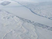 De sneeuw behandelde het noordpoolgebied Royalty-vrije Stock Afbeeldingen