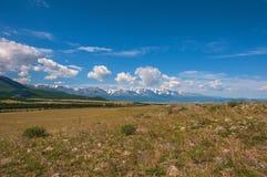 De sneeuw bosvallei van de steppeberg Royalty-vrije Stock Afbeelding