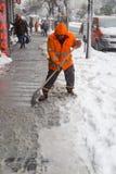 De sneeuw is Istanboel Royalty-vrije Stock Foto's