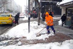 De sneeuw is Istanboel Royalty-vrije Stock Foto