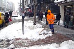 De sneeuw is Istanboel Royalty-vrije Stock Afbeelding