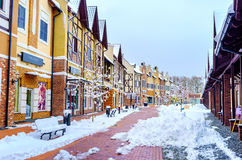 De sneeuw in Kiev stock fotografie