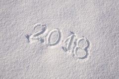 De sneeuw nieuwe kaart van de jaargroet Stock Afbeelding