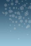 De sneeuw schilfert 2 af Stock Afbeelding