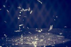 De sneeuw schittert Lichtenachtergrond Uitstekende Fonkeling Bokeh met Selec Royalty-vrije Stock Afbeelding