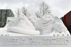 De Sneeuw Sulpture van Disney Stock Afbeeldingen