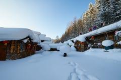 De sneeuw toneel van de sneeuwstad van China ` s royalty-vrije stock afbeelding