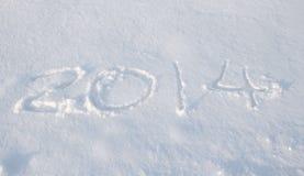 De sneeuw van 2014 Stock Foto's
