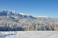 De sneeuw van de berg stock fotografie