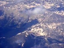De sneeuw van de berg Stock Foto's