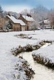 De Sneeuw van de winter - Yorkshire - Engeland Royalty-vrije Stock Foto's