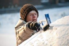 De sneeuw van het bereik van de auto Stock Foto's