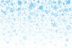 De sneeuw van Kerstmis Dalende sneeuwvlokken op witte achtergrond sneeuwval stock illustratie