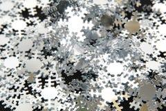 De sneeuw van Kerstmis schilfert decoratie af stock afbeeldingen