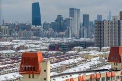 De sneeuw van Shanghai Stock Foto's