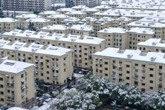 De sneeuw van Shanghai Stock Afbeeldingen
