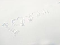 De sneeuw van woorden Stock Fotografie