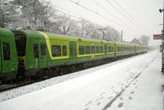 De sneeuw winter in Dublin 02.2009 royalty-vrije stock foto