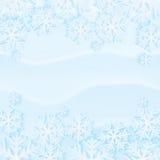 De sneeuwachtergrond van de winter Stock Afbeelding