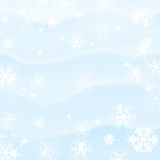 De sneeuwachtergrond van de winter Royalty-vrije Stock Foto
