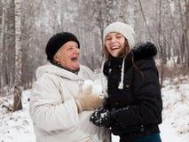 De sneeuwballen van het spel Royalty-vrije Stock Foto
