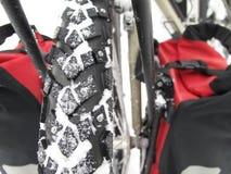 De sneeuwbanden van de fiets royalty-vrije stock afbeeldingen