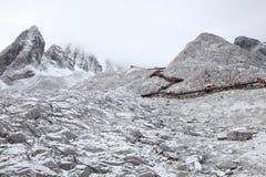 De sneeuwberg van Yulong in Tibet Stock Foto